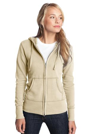 District DT233 Juniors Vintage French Terry Full-Zip ...