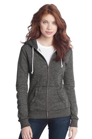 District® DT292 Juniors Marled Fleece Full-Zip Hoodie