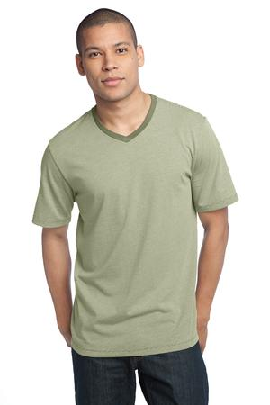 District Made™ DM320 Mens Mini Stripe Notch Crew Tee