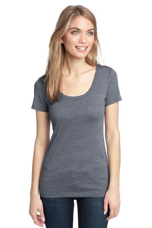 District Made™ DM471 Ladies Textured Scoop Tee