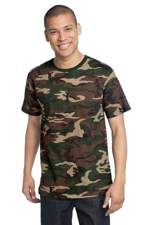 District Made™ DT104C Mens Perfect Weight Camo Crew Tee