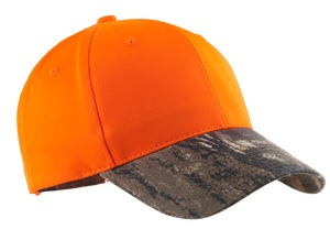 Port Authority® C804 Safety Cap with Camo Brim