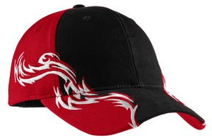 Port Authority® C859 Colorblock Racing Cap with Flames