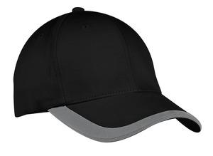 Port Authority® C867 撞色条纹三明治帽舌帽檐帽子