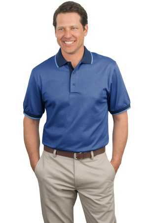 Port Authority® K416 Twill Interlock Polo with Stripe ...