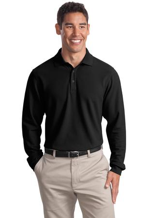 Port Authority® K800LS Long Sleeve EZCotton™ ...