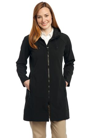 Port Authority® L306 Ladies Long Textured Hooded Soft Shell Jacket