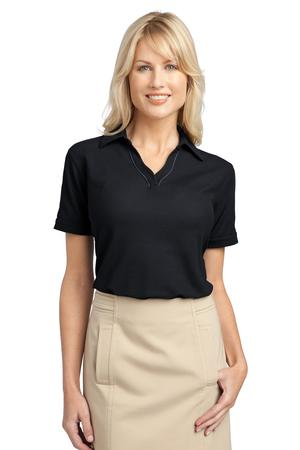 Port Authority® L502 Ladies Silk Touch™ Piped ...