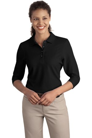Port Authority® L562 Ladies Silk Touch™ 3/4-...