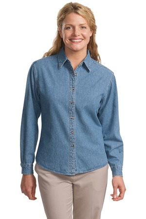 Port Authority® L600D Ladies Long Sleeve Denim Shirt