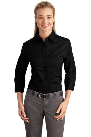 Port Authority® L612 Ladies 3/4-Sleeve Easy Care ...