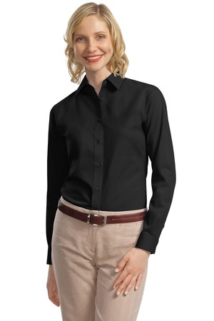 Port Authority® L632 Ladies Long Sleeve Value Poplin ...