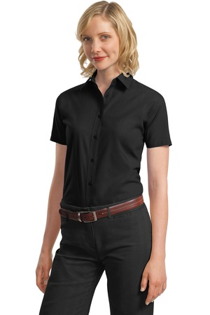 Port Authority® L633 Ladies Short Sleeve Value Poplin ...