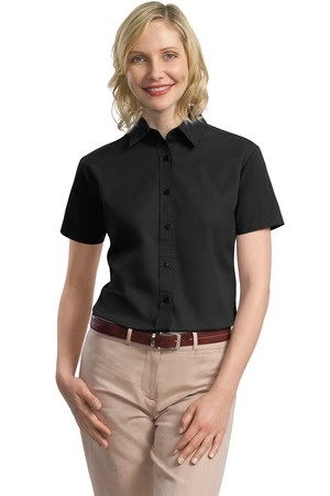 Port Authority® L635 Ladies Short Sleeve Value Cotton ...