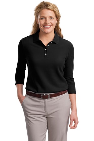 Port Authority® L801 Ladies EZCotton™ Pique ...