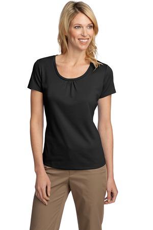 Port Authority® L522 女士丝感顺滑™ 连锁边圆领衬衣