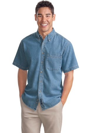 Port Authority® S500 Short Sleeve Denim Shirt