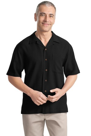 Port Authority® S533 Silk Blend Camp Shirt