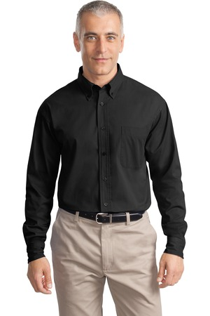Port Authority® S634 Long Sleeve Value Cotton Twill ...