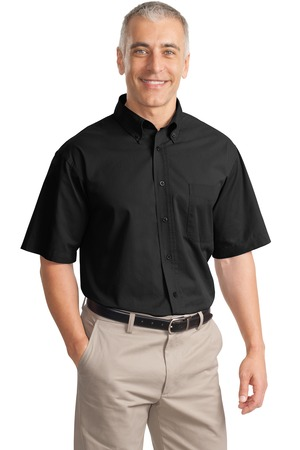 Port Authority® S635 Short Sleeve Value Cotton Twill ...