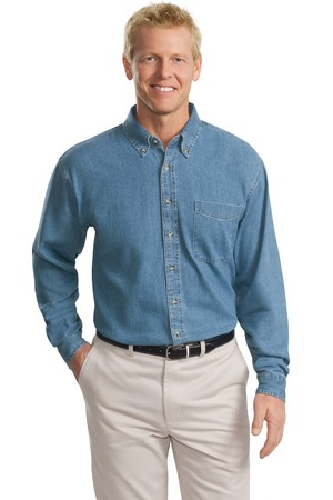 Port Authority® TLS600 Tall Long Sleeve Denim Shirt