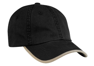 Port & Company® CP87 Twill Cap with Contrast Visor ...