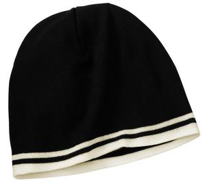 Port & Company® CP93 Fine Knit Skull Cap with Stripes