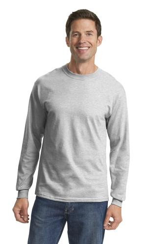 Port & Company® PC54LS Long Sleeve 5.4-oz. 100% ...