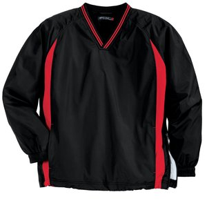 Sport-Tek® JST62 Tipped V-Neck Raglan Wind Shirt
