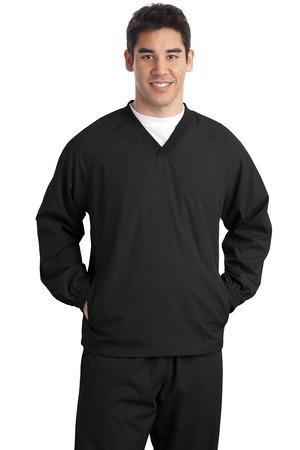 Sport-Tek® JST72 V-Neck Raglan Wind Shirt