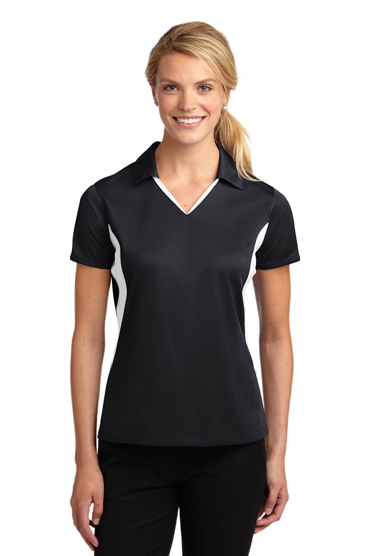 Sport-Tek® LST655 Ladies Side Blocked Micropique ...