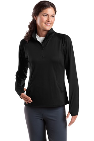 Sport-Tek® LST850 Ladies Sport-Wick® Stretch 1/2-Zip Pullover