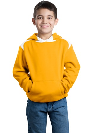 Sport-Tek® Y264 Youth Pullover Hooded Sweatshirt with Contrast Color