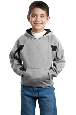Sport-Tek® Y266 Youth Color-Spliced Pullover Hooded ...