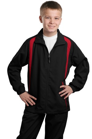 Sport-Tek® YST60 Youth Colorblock Raglan Jacket