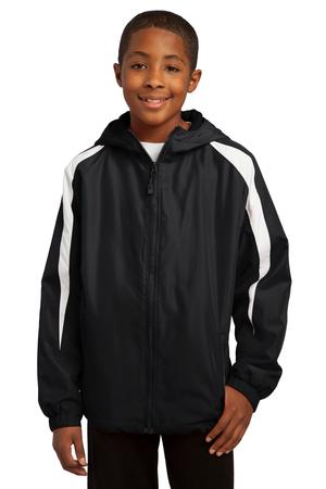 Sport-Tek® YST81 Youth Fleece-Lined Colorblock Jacket