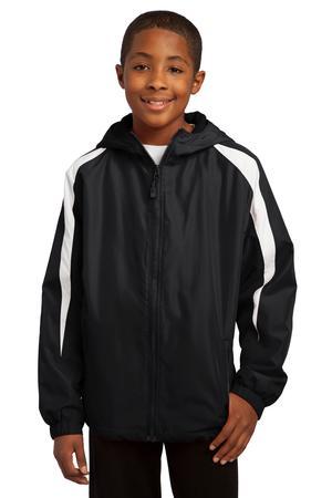 Sport-Tek® YST81 Youth Fleece-Lined Colorblock Jacket