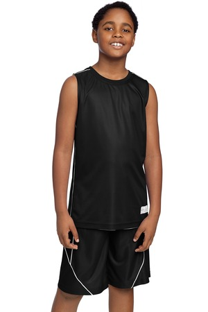 Sport-Tek® YT555 Youth PosiCharge Mesh™ Reversible Sleeveless Tee