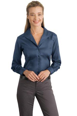 44f64b33 Red House® RH48 Ladies Herringbone Non-Iron Button-Down Shirt ...