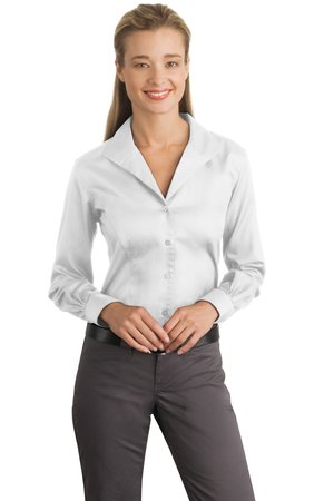 ef600051 Red House® RH48 Ladies Herringbone Non-Iron Button-Down Shirt ...