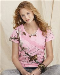 Code V 3685 - Ladies' Realtree Camouflage T-Shirt