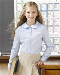 French Toast E9321 - Girls' Long Sleeve Peter Pan Poplin ...