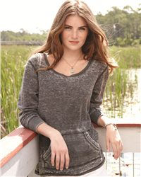J. America 8255-Ladies Zen Thermal Long Sleeve T-Shirt