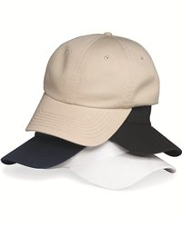 Valucap VC350-Unstructured Washed Chino Twill Cap with Velcro