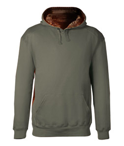 Badger 1264-Adult Athletic Fleece Camo Accent Hooded ...