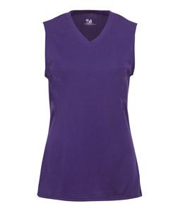 Badger 2163- 女孩女士无袖T恤