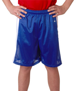 Badger 2241-Youth Challenger Poly Mesh 6-inch Shorts