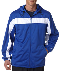 Badger 7705-Adult Brushed Tricot Hooded Jacket