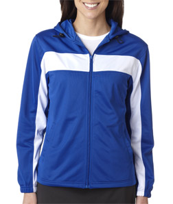 Badger 7905-Ladies Brushed Tricot Hooded Jacket with ...