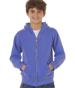 Chouinard 7755-Youth Full-Zip Hooded Sweatshirt